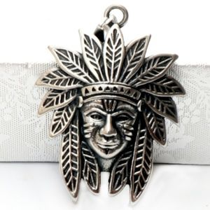 Other - Stainless Steel Native American Indian Chief Charm